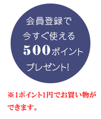 500pointプレゼント!